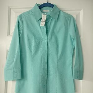 New York and Company 3/4 Button Up Dress Shirt